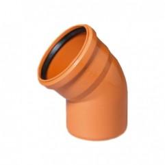 Колено D 110 х 30 мм, полипропилен ОРАНЖЕВЫЙ Flextron