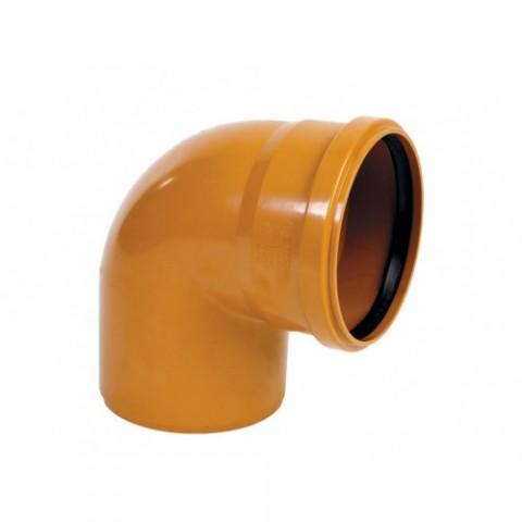 Колено D 110 х 90 мм, полипропилен ОРАНЖЕВЫЙ Flextron купить за 47 руб. в Симферополе