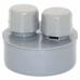 Воздушный клапан D 110 мм, полипропилен серый Flextron купить за 62 руб. в Симферополе