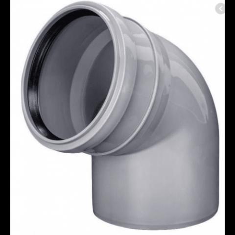 Колено D 50 х 90 мм, полипропилен серый Flextron купить за 10 руб. в Симферополе