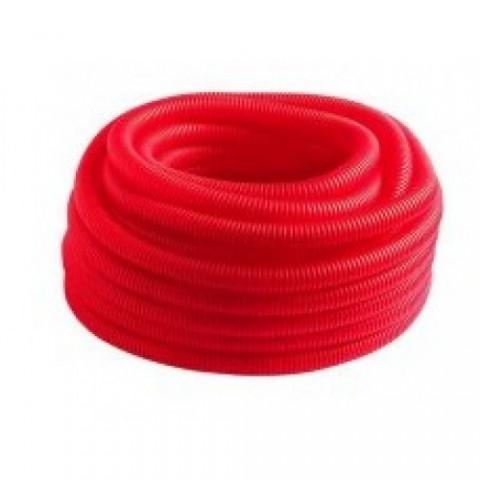 Гофро-рукав (пешель) 24 (50м.бухта) красный купить за 866 руб. в Симферополе