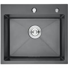 GERHANS K35044B PVD графит, кухонная мойка HANDMADE, 500*440-200х1.0 мм