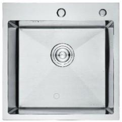 GERHANS K35050 кухонная мойка HANDMADE, 500*500-200х1.0 мм