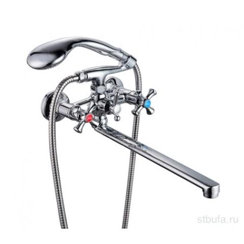 146   Смес для ванной   FAUZT   ручка крест, шаров перекл   FZ421-A07   (ЛАТУНЬ) купить за 2 350 руб. в Симферополе