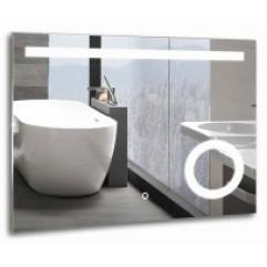 ЛАЙТ зеркало 800х600 LED подсветка, сенсорный выключатель, увел-е зеркало (Серебряные зеркала)