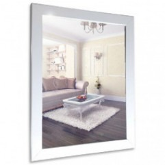 ГЛЯНЕЦ БЕЛЫЙ зеркало (410*610) (Серебряные зеркала)