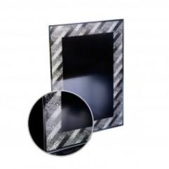 """КАТРИН зеркало 520*735 (рисунок """"Тайфун"""", фацет 10мм, гор/верт крепление) (Серебряные зеркала)"""