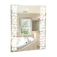 ИЗМИР-ЛЮКС зеркало (535*750) (короб, LED, мех. выключатель) (Серебряные зеркала)