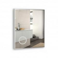 ЛАЙТ-ЭКОНОМ зеркало 600*800 (линза с 4-м увел, МДФ-подложка, фацет, г/в  10мм) (Серебряные зеркала)