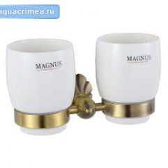 95160 - MAGNUS - Стакан + стакан с креплением к стене БРОНЗА