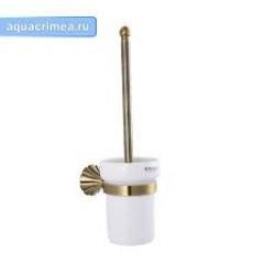 95162 - MAGNUS - Ерш для унитаза, керамическая колба с креплением к стене БРОНЗА