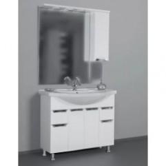 ЕВА 101 БЕЛЫЙ зеркало ПРАВОЕ (В)