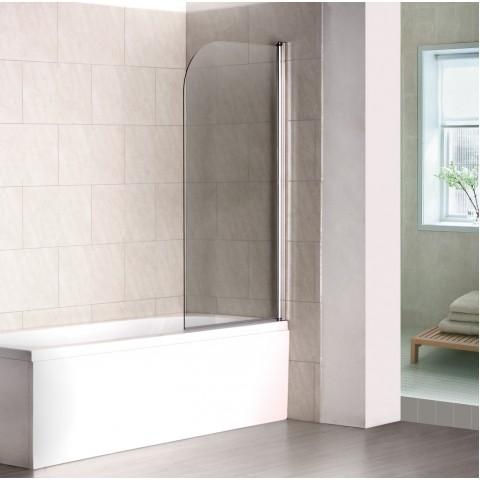R-110-1 Шторка для ванны Crome 8мм стекло (80*140) распашная REDO (10317120/090221/0014992, Китай) купить за 6 443 руб. в Симферополе