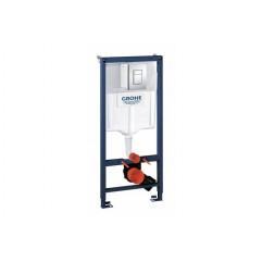 Система инстал. GROHE RAPID SL для подвесного унитаза в сборе квадратная кнопка 1,13 м.(38772001)