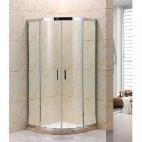 R-3001 Chrome Душ. ограждение 6мм стекло (100x100x190) полукруг, двери раздвижные REDO (10317120/121 купить за 21 879 руб. в Симферополе