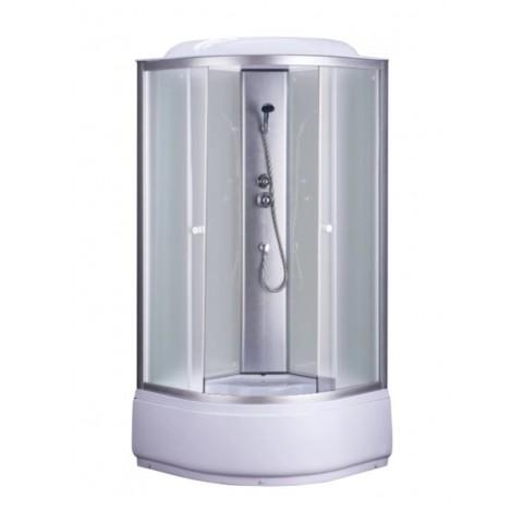 Душ. каб. NG-3302-14G (1000х1000х2150) низкий поддон (26см) ГИДРОМАССАЖ стекло МАТОВОЕ купить за 25 523 руб. в Симферополе