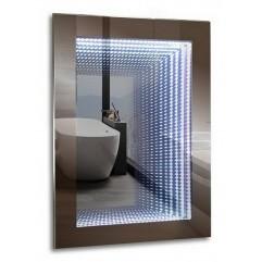 ГАЛАКТИКА зеркало 600*800 Выключатель-датчик на движение  (Серебряные зеркала)