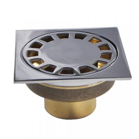 00044 Трап латунный 100х100 выход 50мм вертикальный нижняя часть бронза купить за 804 руб. в Симферополе