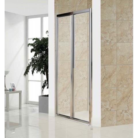 Дверь bifold 90*185 хром прозрачная купить за 12 735 руб. в Симферополе