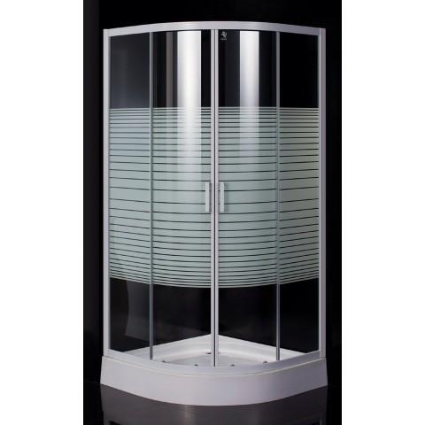 """TISZA (AMUR) душевая кабина 90*90*185см (стекла + двери), профиль белый, стекло """"Frizеk"""" купить за 11 970 руб. в Симферополе"""