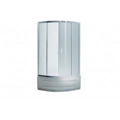 TISZA átlagos душевая кабина 90*90*200cм, стекло прозрачное, профиль хром (в комплекте с поддоном)