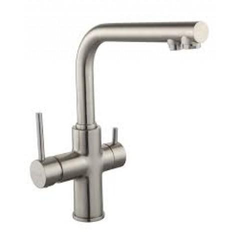 DAICY смеситель для кухни однорычажный с подключением питьевой воды, сатин купить за 11 565 руб. в Симферополе