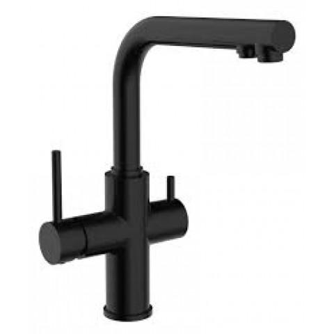 DAICY смеситель для кухни однорычажный с подключением питьевой воды, (черный) купить за 12 915 руб. в Симферополе