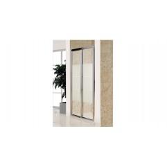 Дверь bifold, стекло Matt csik, профиль хром, 90х185 см