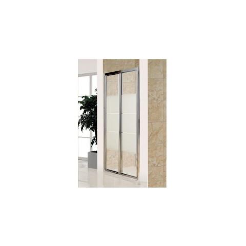 Дверь bifold, стекло Matt csik, профиль хром, 100х185 см купить за 14 400 руб. в Симферополе