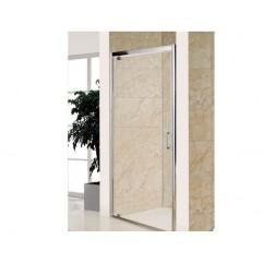 Дверь распашная, стекло прозрачное 5мм, профиль  хром, 100x185 см
