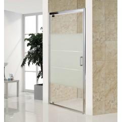 Дверь распашная, стекло Matt csik, профиль  хром, 100x185 см