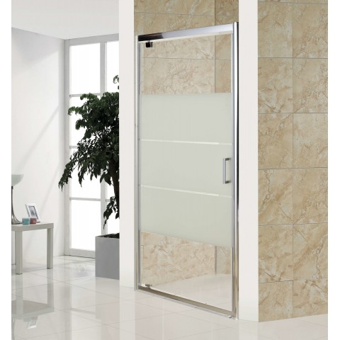 Дверь распашная, стекло Matt csik, профиль  хром, 100x185 см купить за 14 850 руб. в Симферополе