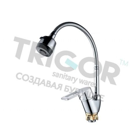 008F  KUA8-E-404  TRIGOR Смеситель  д/кухни гибкий излив гайка к40    (10) купить за 1 582 руб. в Симферополе