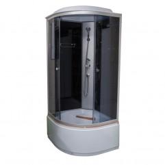 Душ. каб. NG-2508-14G (900х900х2150) ГИДРОМАССАЖ высокий поддон стекло ТОНИРОВАННОЕ