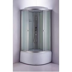 Душ. каб. NG-2309-14G (1000х1000х2150) ГИДРОМАССАЖ  высокий поддон (45см) стекло МАТОВОЕ
