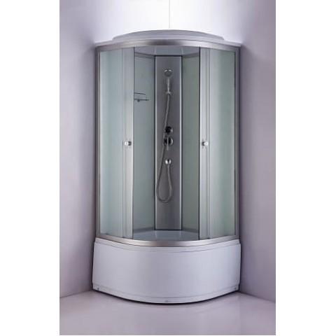 Душ. каб. NG-2309-14G (1000х1000х2150) ГИДРОМАССАЖ  высокий поддон (45см) стекло МАТОВОЕ купить за 24 029 руб. в Симферополе