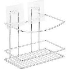 """KLE-LT033 Полка-решетка ВЫСОКАЯ для ванной настенная на силиконовом креплении """"Kleber Lite"""""""