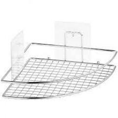 """KLE-LT035 Полка-решетка УГЛОВАЯ для ванной настенная на силиконовом креплении """"Kleber Lite"""""""
