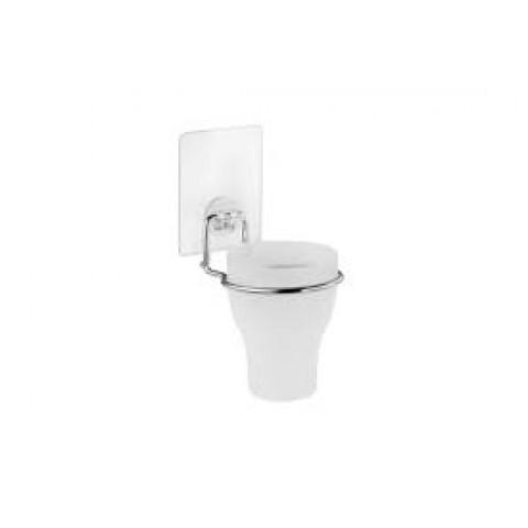 """KLE-LT044 Стакан для ванной одинарный на силиконовом креплении пластиковый """"Kleber Lite"""" купить за 327 руб. в Симферополе"""