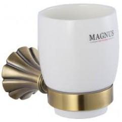 95005 - MAGNUS - Стакан керамический с креплением к стене БРОНЗА
