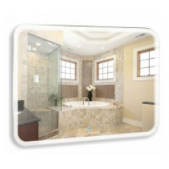 СТИВ зеркало 1000*800 - 2 Сенсорный выключатель + ДВОЙНОЙ ПОДОГРЕВ (Серебряные зеркала)
