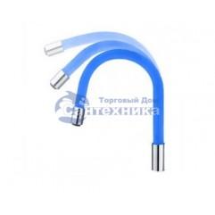 HB7180-4 гибкий силиконовый излив нерж. SUS304 (синий)