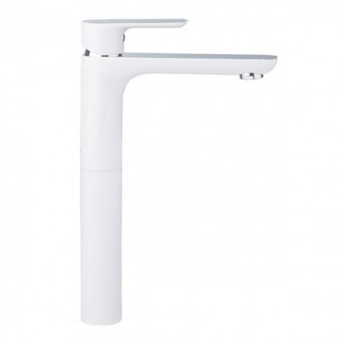 HB11505-8 Смеситель для раковины (латунь) белый/хром купить за 5 450 руб. в Симферополе