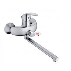 HB2221 Смеситель однорычажный для ванны длинный излив переключатель в корпусе хром