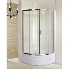 TISZA душевая кабина, 90х90х200 см, стекло прозрачное, профиль хром( в комплекте с поддоном)