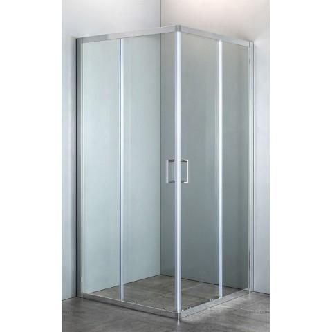 Душевая кабина 90*90*190см квадратная, раздвижные двери, без поддона, стекло прозрачное, профиль хро купить за 25 110 руб. в Симферополе
