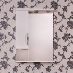 ЕВА 70 БЕЛАЯ (шкаф короткий) Зеркало с доводчиком ЛЕВОЕ (В)