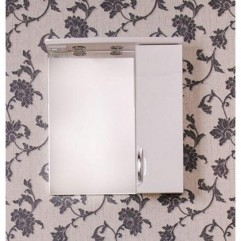 ЕВА 70 БЕЛАЯ Б (шкаф длинный) Зеркало с доводчиком ПРАВОЕ (В)