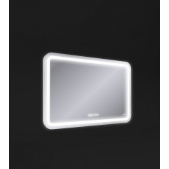 DESIGN PRO Зеркало с подсветкой антизапотевание 80*55,смена цвета холод.те,часы Сорт1