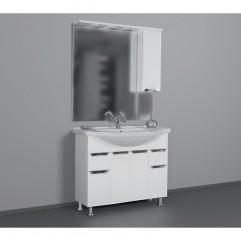 ЕВА 101 БЕЛЫЙ зеркало ЛЕВОЕ (В)